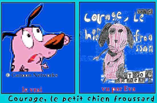 chien courage