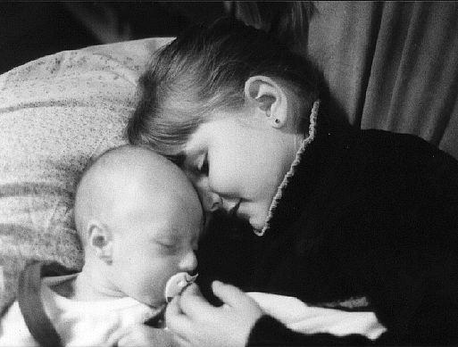 Mathilde et Lou bébé