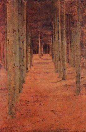 Khnopff : forêt à Fosset