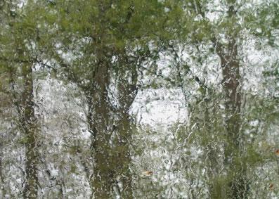 pluie sur carreau
