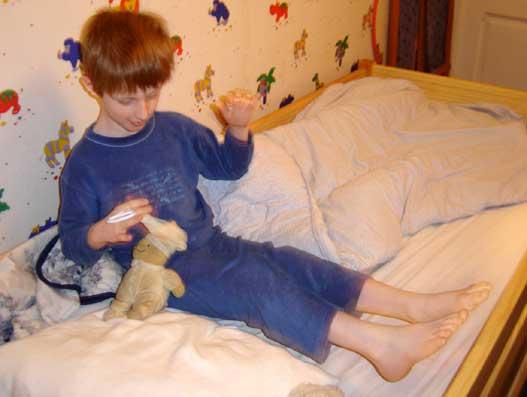 le petit prince au lit