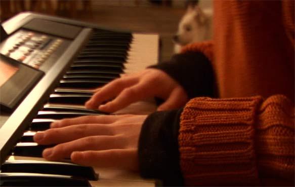 Les doigts d'artistes au piano