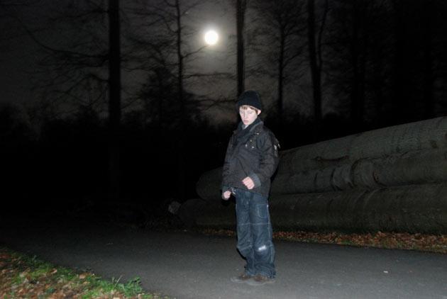le petit prince dans la nuit au clair de lune