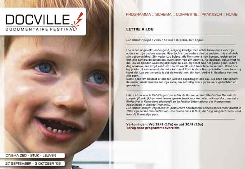 LETTRE  LOU DOCVILLE LEUVEN