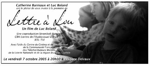 le film : lettre à Lou
